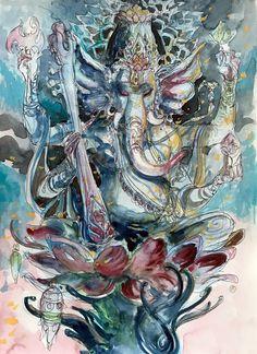 Ganesha, Ragapati. - Abhishek Singh Art