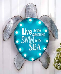 Details about Sea Turtle Swim Metal Surfboard Sign x ↔ Beach Pool Bar Home Wall Decor. Lighted Turtle Metal Coastal Wall Sign Sculpture Sea Life Beach Home Decor. Beach Room Decor, Home Wall Decor, Beach House Decor, Bedroom Decor, Bedroom Ideas, Ocean Home Decor, Beach Kids Rooms, Ocean Bedroom Kids, Bedroom Inspiration