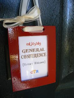 The Creative Homemaker: Conference Door Sign