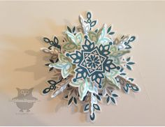 Wednesday, September 11, 2013 Dani's Thoughtful Corner: Festive Flurry 3-dimensional Snowflake