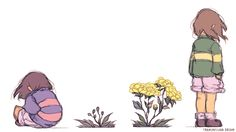 """Tumblr. transmissiondream:      """" """"Undertale Flora"""" - Plants in this game are so interesting.. Animations done with photoshop """""""