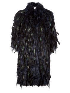 fur  feather coat guy laroche f.w2012 farfetch