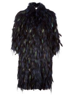 fur  feather coat guy laroche f.w2012 farfetch