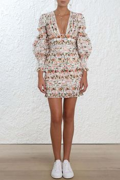 16051f8cf6 Buy 2018 New Arrival Europe Autumn Luxury Brand Runway Designer Cotton  Resort Woman Mini Dress Elegant Sexy Deep V-neck Short Dress