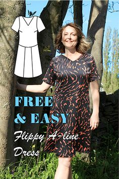 the Flippy A-line Dress. It is available here as a completely FREE downloadable PDF and come as a UK size 12 – that's a US size 8.