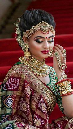 Bridal Makeup For Brown Eyes, Bridal Makeup Looks, Bride Makeup, Bridal Looks, Bridal Style, Beautiful Bridal Makeup, Best Bridal Makeup, Purple Makeup, Indian Bridal Photos