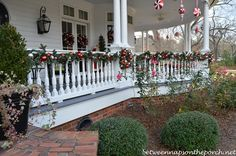 pictures of christmas farm decorating | decorated with beautiful garland. Each window sported a big Christmas ...