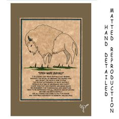 TOTEM WHITE BUFFALO  Totem Animal Print on 5x7 by JoysoftheSpirit, $7.50