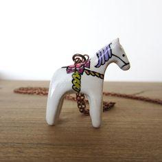 dala horse pendant necklace
