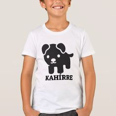 Text in Pijao: kahírre and a black dog T-Shirt - simple clear clean design style unique diy