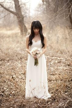 Woodland Bridal Shoot In The Golden Afternoon Light | Bridal Musings | A Chic and Unique Wedding Blog