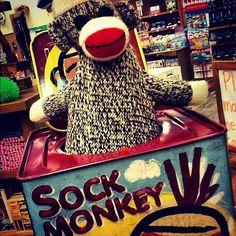 Peek a Boo!! #sockmonkey #jackinthebox #toys #toystore #blickenstaffs