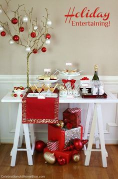 Red and White Christmas Blog Hop