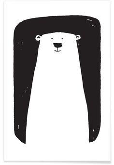 Bear als Premium poster door Richard Hood | JUNIQE