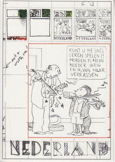 Swarte, Joost - postzegel kaart - W.B.