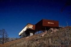Maison contemporaine en bois avec panorama sur le Sunshine Canyon aux Etats-Unis, , #modern #THA Architecture #USA #wooden house