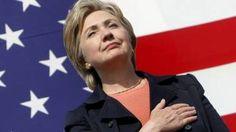 Por el momento, es la unica candidata oficial en las primarias del Partido Democrata, y domina los sondeos. April 12, 2015.