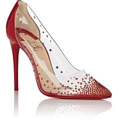 f8246822f98f Christian Louboutin Degrastrass Pvc   Patent Leather Pumps - 5.5 Red High Heel  Pumps