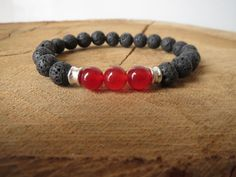 Mens Bracelets, Men Gemstones Bracelet, Black Lava Bracelet,Choose your Stones,Beaded Bracelets, Mens Stretch Stone Bracelet on Etsy