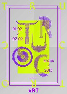 Art Truc Troc by John TheGraph, via Behance