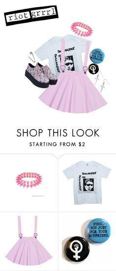 """Riot grrrl"" by unicorn-doot ❤ liked on Polyvore featuring H&M"