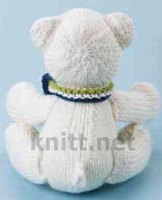 Knitted Animals, Knitted Dolls, Baby Knitting, Knitting Patterns, Teddy Bear, Bears, Dots, Tejidos, Patterns