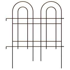 Homeland Garden Fence, Double Arch, Oil-Rubbed Bronze Steel, 36 x 42-In.: Model# 87675 | True Value