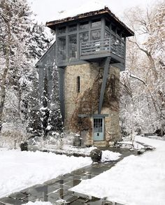 McALPINE on The concept of this enchanted tower began as a playhouse for the owners daughter (who was obsessed with the Disney movie Tangled) but Tiny House Cabin, Tiny House Living, Tiny House Design, Architecture Renovation, Architecture Design, Architecture Definition, Computer Architecture, Building Architecture, Japanese Architecture