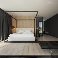 bedroom / The 58_15 House is designed by KUOO Architects and is located in #Warsaw #Poland