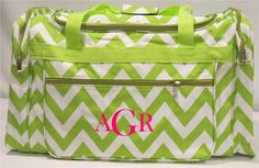 Chevron Duffle Bag with Monogram  5 Colors by MeadowCrestMonograms, $25.95