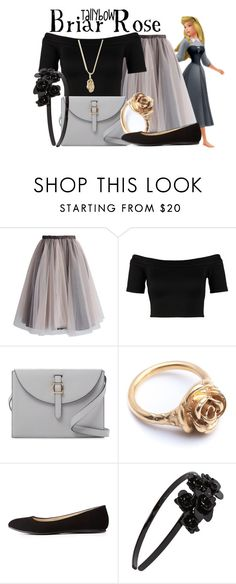 """""""Briar Rose"""" by tallybow ❤ liked on Polyvore featuring Chicwish, Miss Selfridge, Meli Melo, LeiVanKash, Charlotte Russe, L. Erickson and Sydney Evan"""