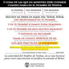 3 COSAS DE LAS QUE UN MINISTRO DEBE CUIDARSE CUANDO HABLA EN EL NOMBRE DE YESHUA
