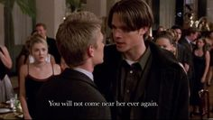 Dean fights Tristan. (gilmore girls recap - rory's dance - 1.09 and a recipe for tacos!   mitzyathome.com)