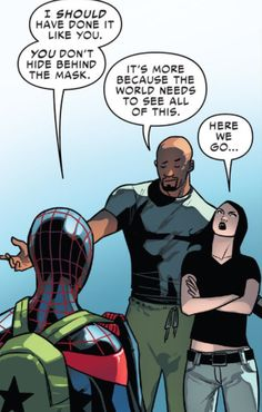 Spiderman, Luke Cage and Jessica Jones.