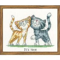 Heritage It's Love Counted Cross-Stitch Kit