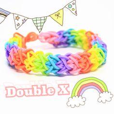 Rainbow Loom Ideas: Double X by PaperPastels on YouTube #rainbowloom #doublex #tutorial http://www.youtube.com/watch?v=nIWCp2SZWrE