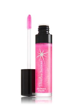 Disco Melon Dazzlelicious Lip Gloss Wand - LipLicious - Bath & Body Works. I'm not a fan of melon but the color is so pretty I wanna give it a try!