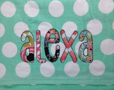 Polka Dot - Chevron - Stars - Beach Towel - Personalized Applique Name or Greek Letters - Sorority - Spring Break - Pool Towel  by PinkPosieCouture on Etsy https://www.etsy.com/listing/218123012/polka-dot-chevron-stars-beach-towel