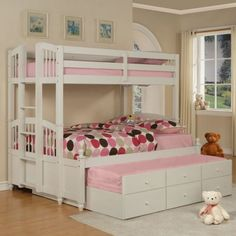 Powell May Twin over Full Bunk Bed -- For the girl's room someday!