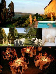 Con aire campestres una boda en la Toscana... #boda