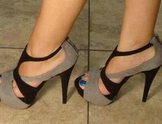 Love these shoes! not digging the blue toe nail polish though...