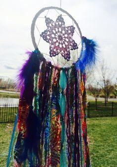 Tie Dye Dream Catcher / Hippie Dreamcatcher / by 54UniqueBoutique