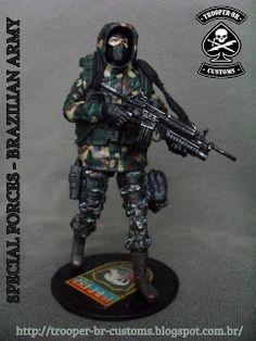 Gi joe Custom Action Figures: Exército Brasileiro - Forças Especiais   Brazilian Army - Special Forces