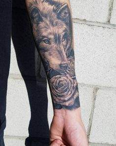 Image result for forearm wolf tattoo