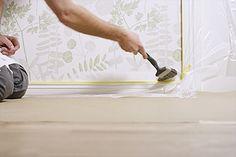 Måla på tapet – så gör du, steg för steg – Anza Måleriverktyg Home Decor, Interior Design, Home Interior Design, Home Decoration, Decoration Home, Interior Decorating