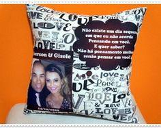 Almofada Love c/ Foto, Nome e Declaração