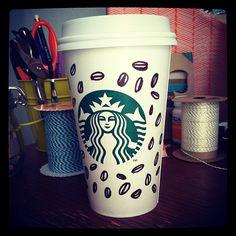 """The new cheetah print is the coffee bean. "" Art by Bethany Thomas. #WhiteCupContest"
