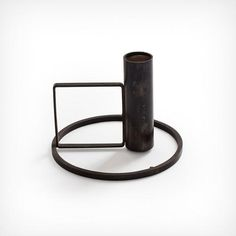 Kneip Norway Norwegen Interior Design Kerzenständer Candleholder Minimalistic Minimalism Geometrisch Geometrie Geometric Black Oxide