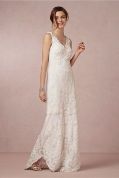 Boho chic on your wedding day in this comfortable sheath dress. This gown has straps along with a v neck front and low back. Wedding Dress Sizes, Cheap Wedding Dress, Bridal Gowns, Wedding Gowns, Bhldn Wedding, Wedding Attire, Gown Drawing, Culture, Casual Wedding