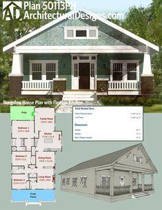 Plan 69541AM Bungalow With Open Floor Plan Loft Bungalow House